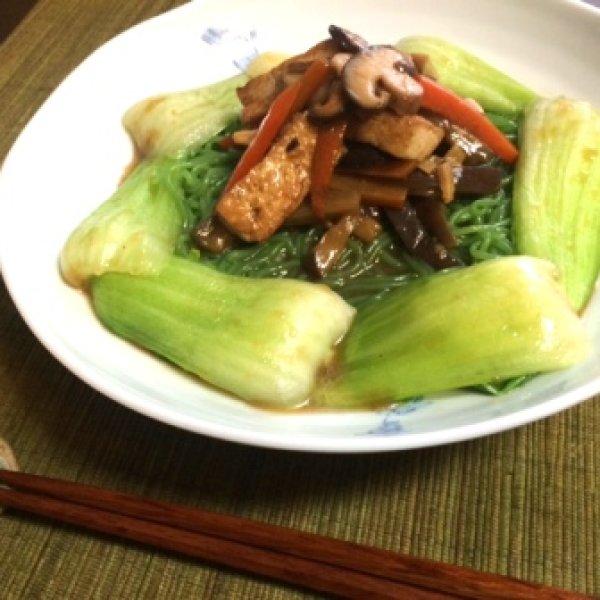 画像2: 生ほうれん草入り こんにゃく翡翠(ひすい)麺 (2)